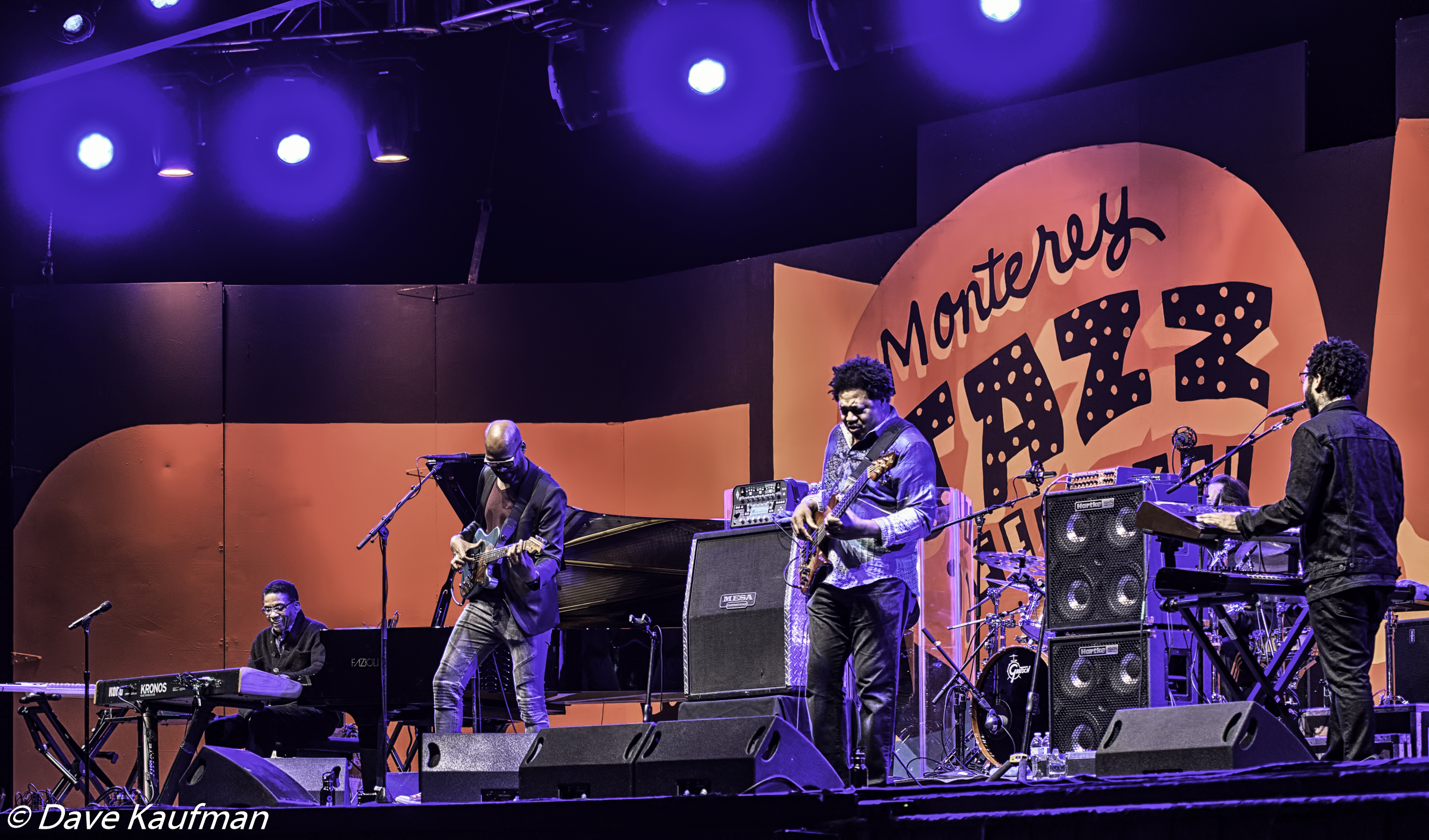 Herbie Hancock, Lionel Loueke, James Genus and Terrace Martin at the Monterey Jazz Festival