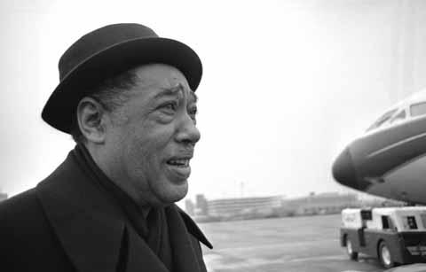 Duke Ellington Arrives at Heathrow Airport