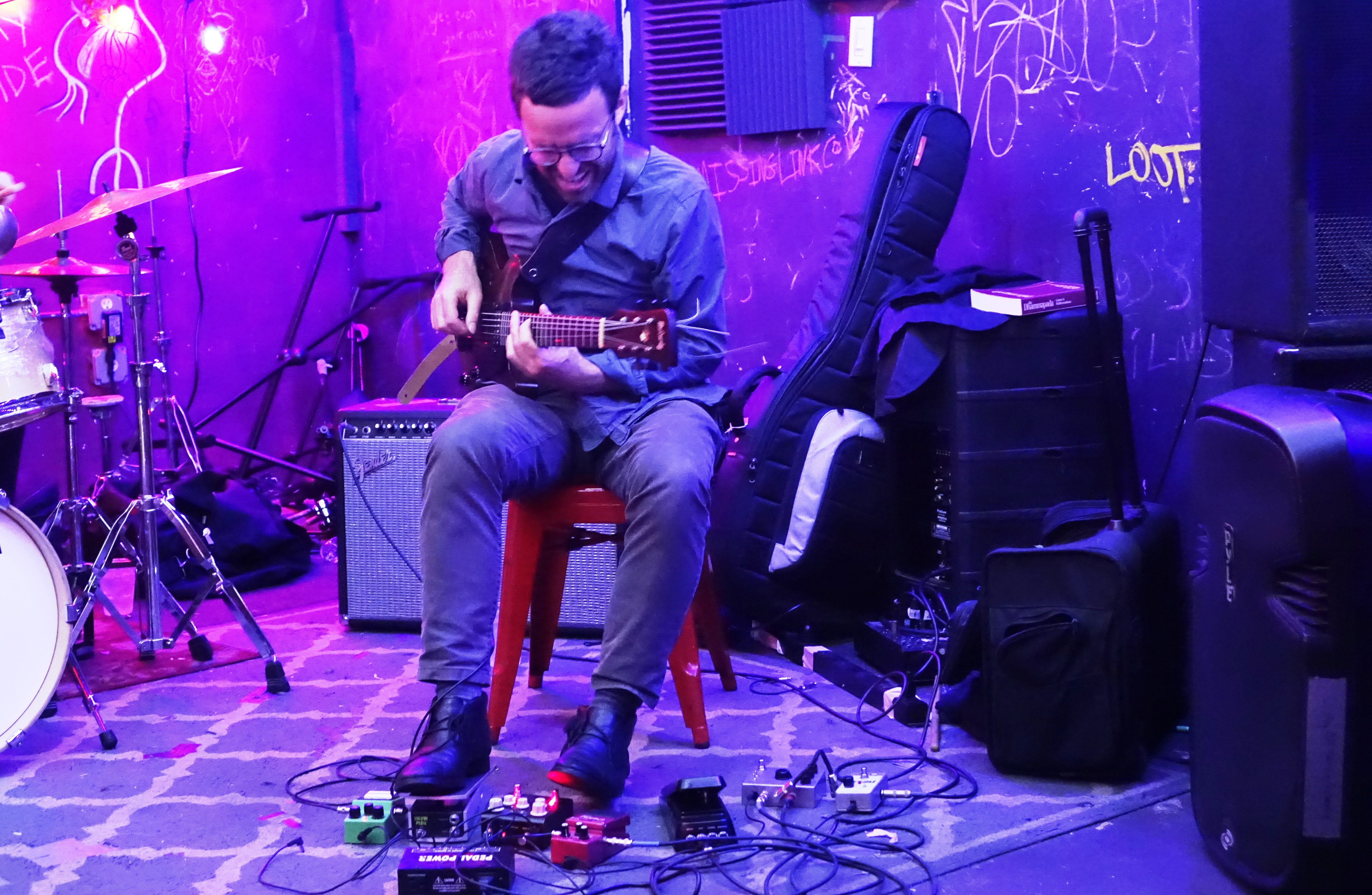 Todd Neufeld at the Bushwick Public House, Brooklyn in June 2019