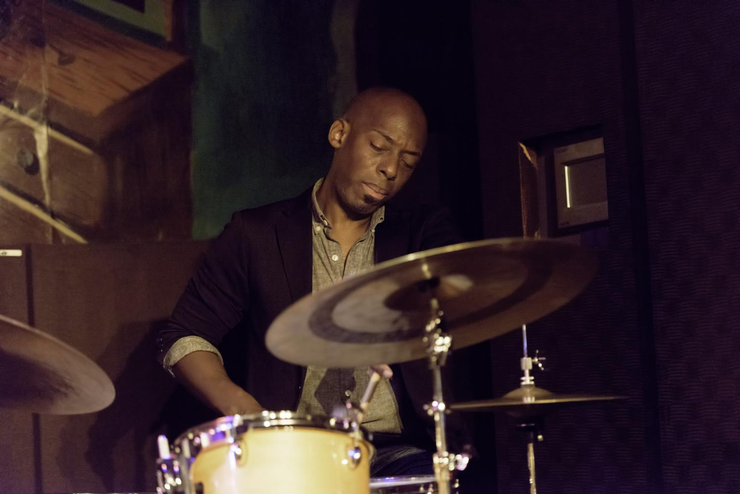 E.J. Strickland with Brandee Younger at Minton's in Harlem
