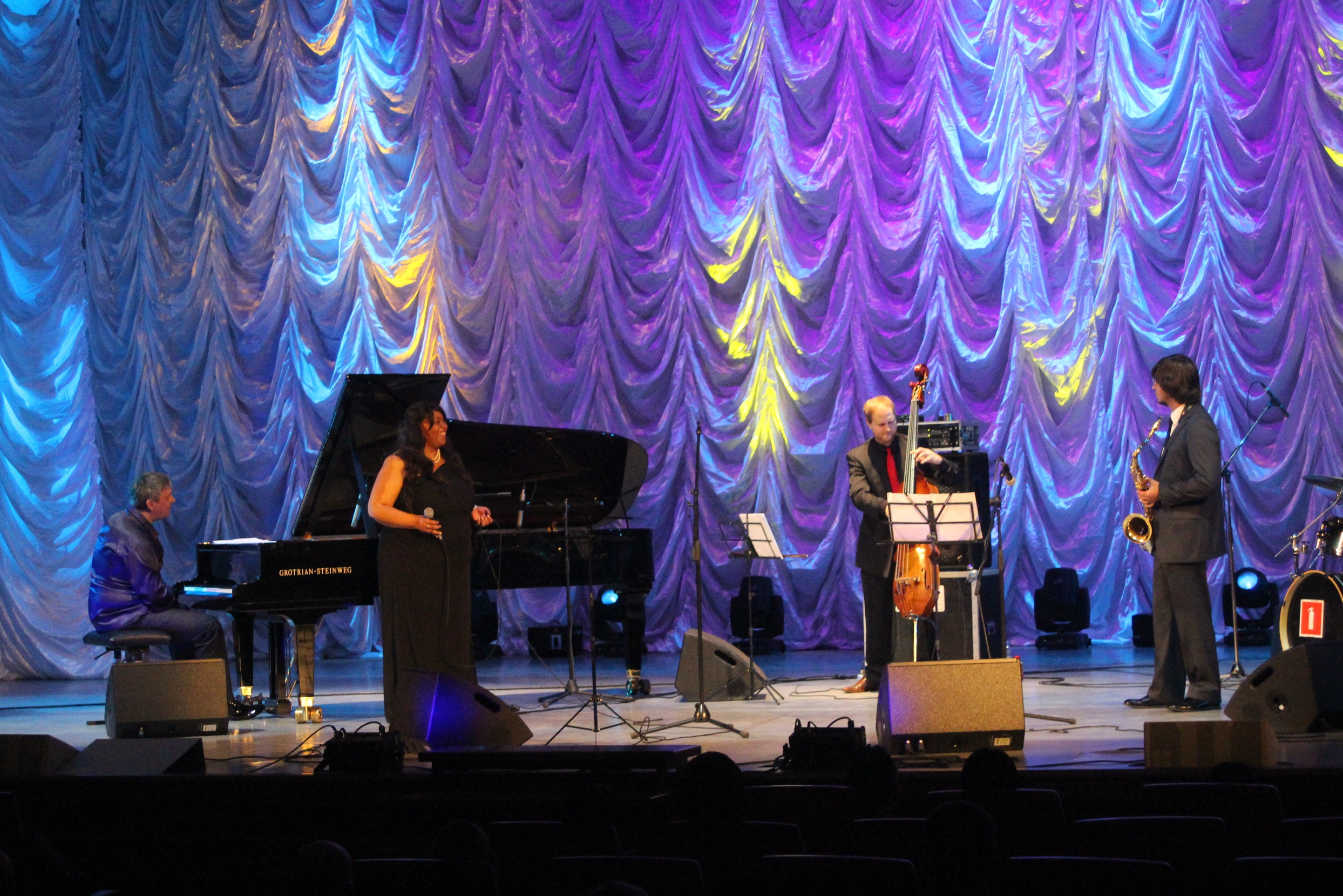 Michelle walker in concert at the philharmonic in vladivostok, russia.