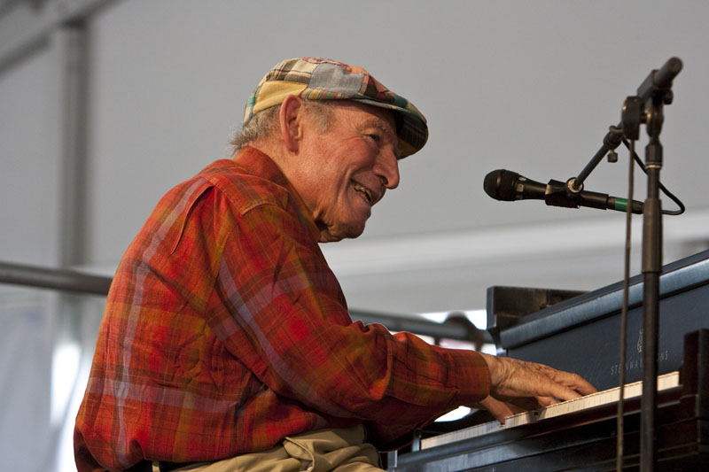 George Wein at the 40th Anniversary New Orleans Jazz & Heritage Festival, USA