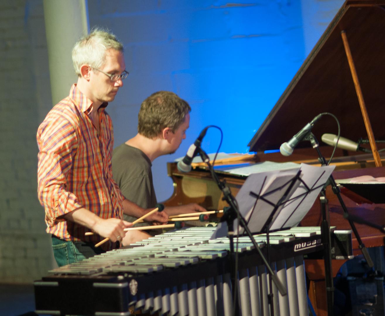 Matt Moran and Matt Mitchell with the Claudia Quintet at Shapeshifter Lab
