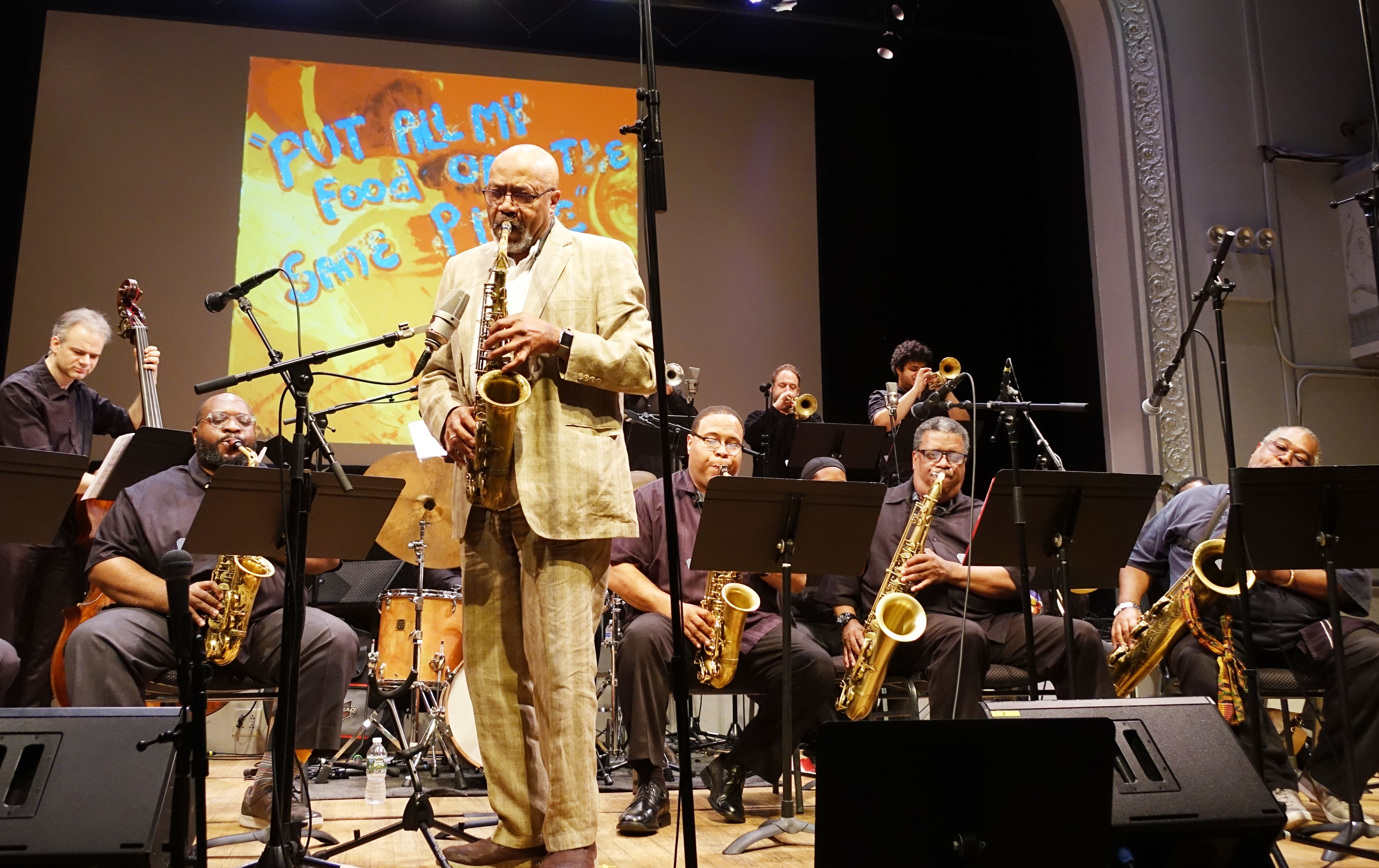 Oliver Lake's Big Band at the Vision Festival at Roulette, Brooklyn in May 2018