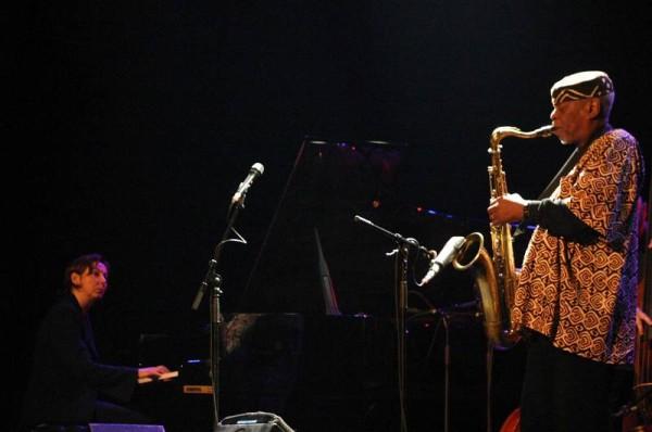 "Rita Marcotulli and Dewey Redman with ""Dewey Redman Quartet"" at Amr Jazz Festival, Alhambra, Geneva, Switzerland, 2004"