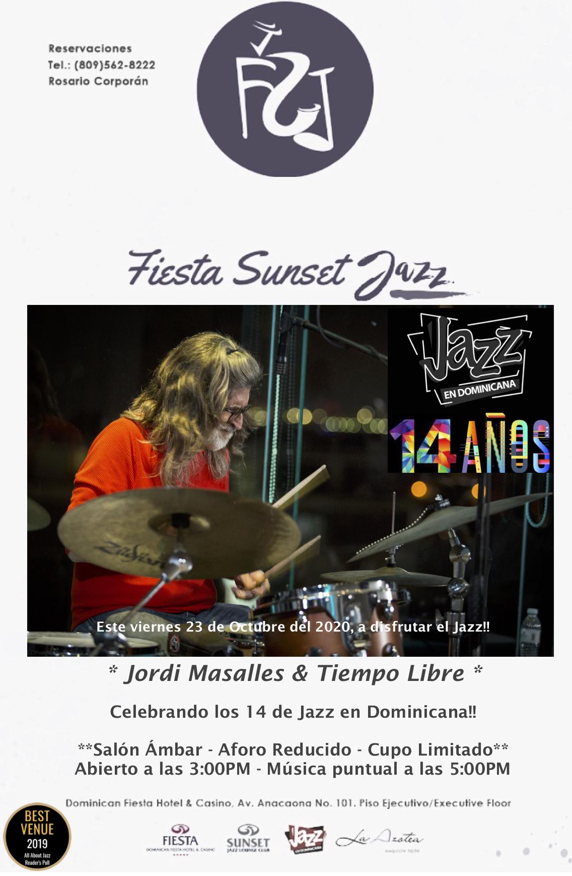 Jordi Masalles And Tiempo Libre Celebrate 14th Anniversary Of Jazz En Dominicana