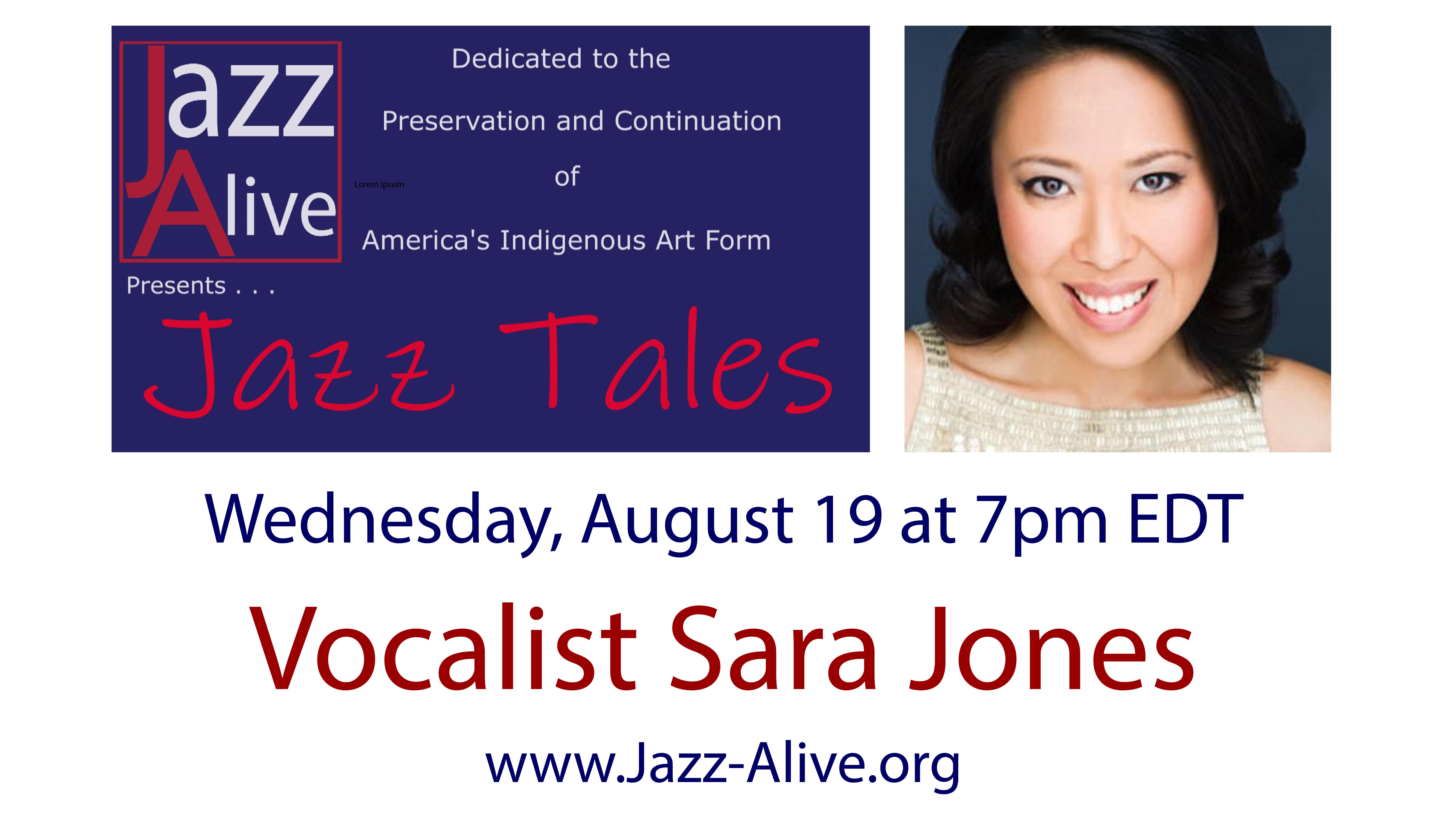 Jazz Tales With Vocalist Sara Jones