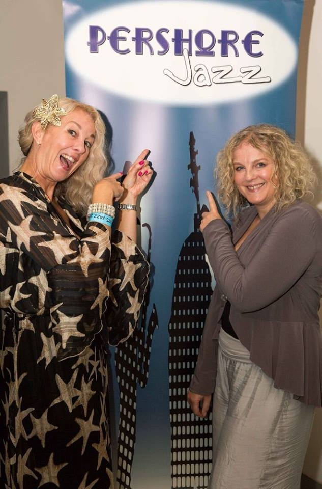 Kim Cypher and Wendy Kirkland at Pershore Jazz Festival August 2018