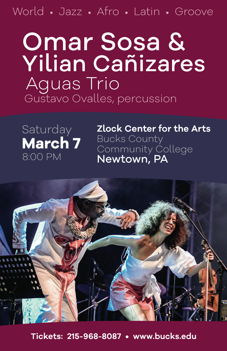 Omar Sosa & Yilian Cañizares Aguas Trio, Featuring Gustavo Ovalles, Percussion