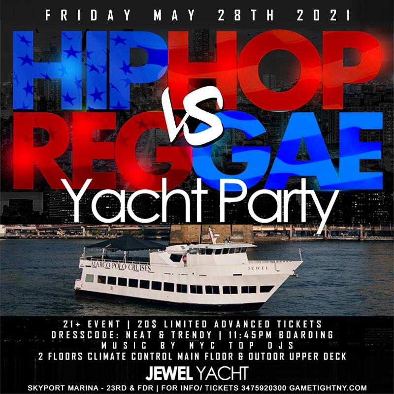 Mdw Nyc Hip Hop Vs Reggae® Nyc Sunset Cruise Skyport Marina Jewel Yacht