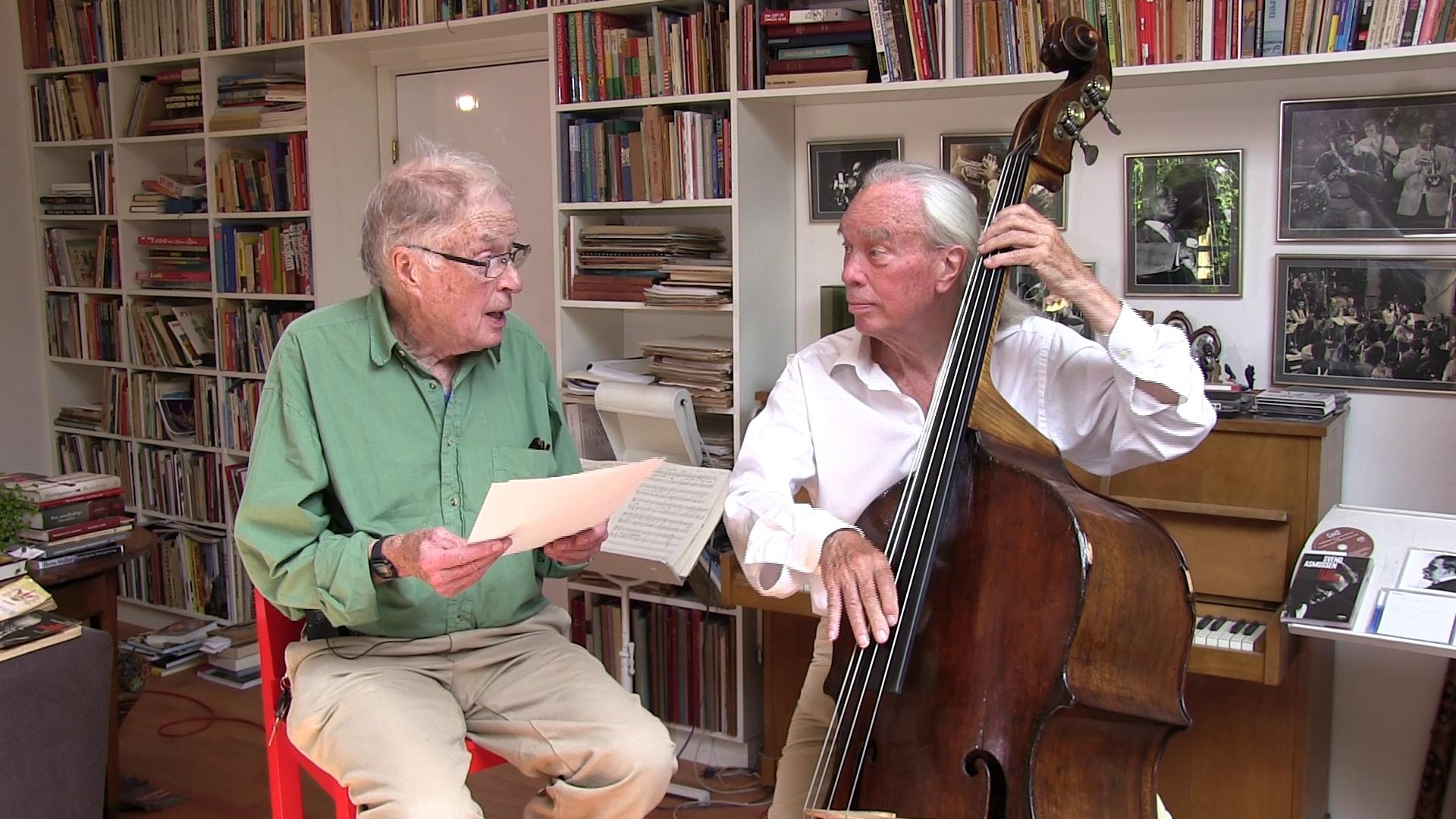 Fradley Garner and Erik Moseholm Groove to a Reading of Harlem Jazz Adventures
