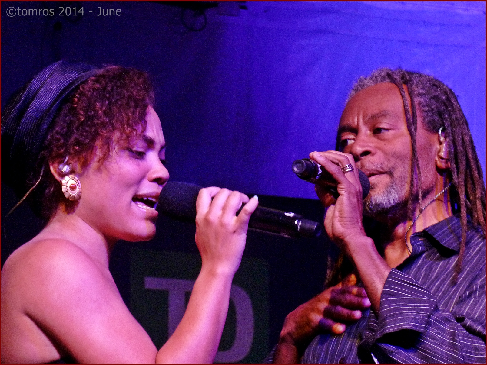 Bobby Mcferrin with Madison (Daughter) at Toronto Jazz Festival, June 27, 2014.
