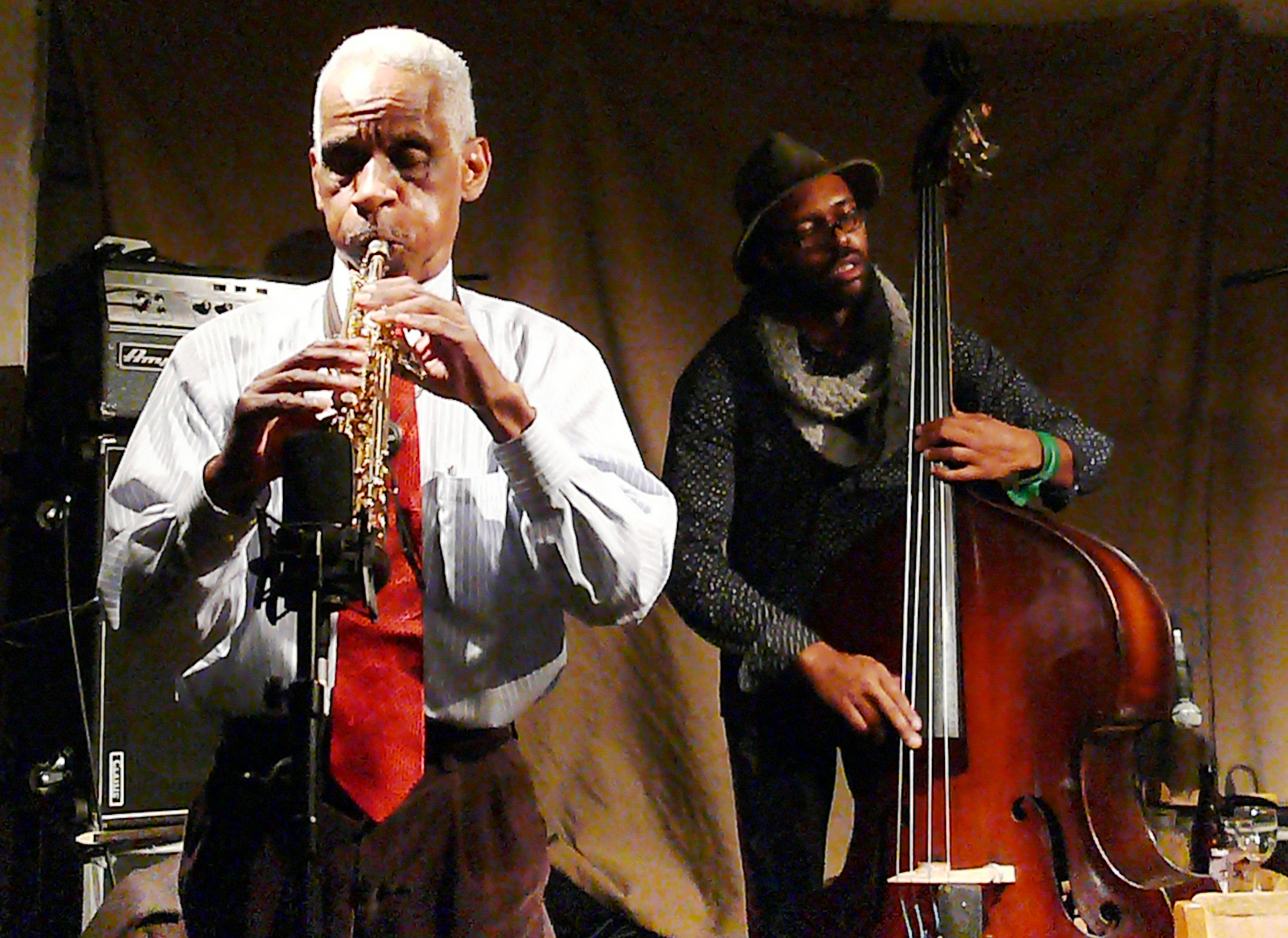 Roscoe Mitchell and Junius Paul at Cafe Oto, London in February 2017
