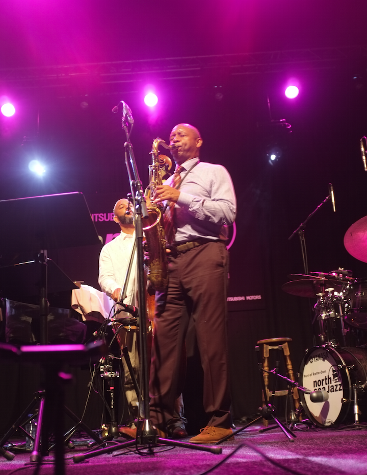 Branford Marsalis with Eric Revis on bass (in background)