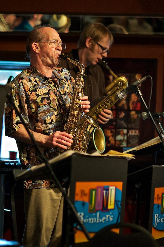 Bob Brough and Richard Underhill - The Jive Bombers - The Rex - Toronto