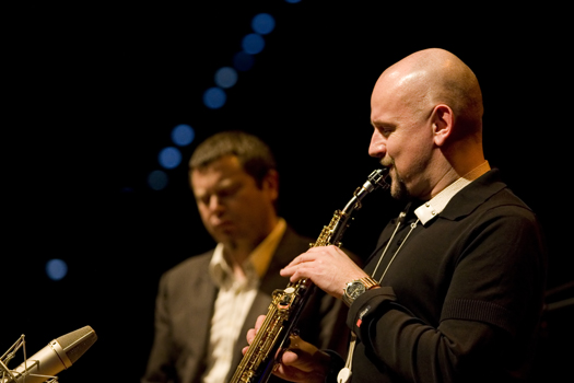 Adrian Mears &Amp; Adam Pieronczyk of Anthony Cox Quartet - Gdansk in Jan. 2008