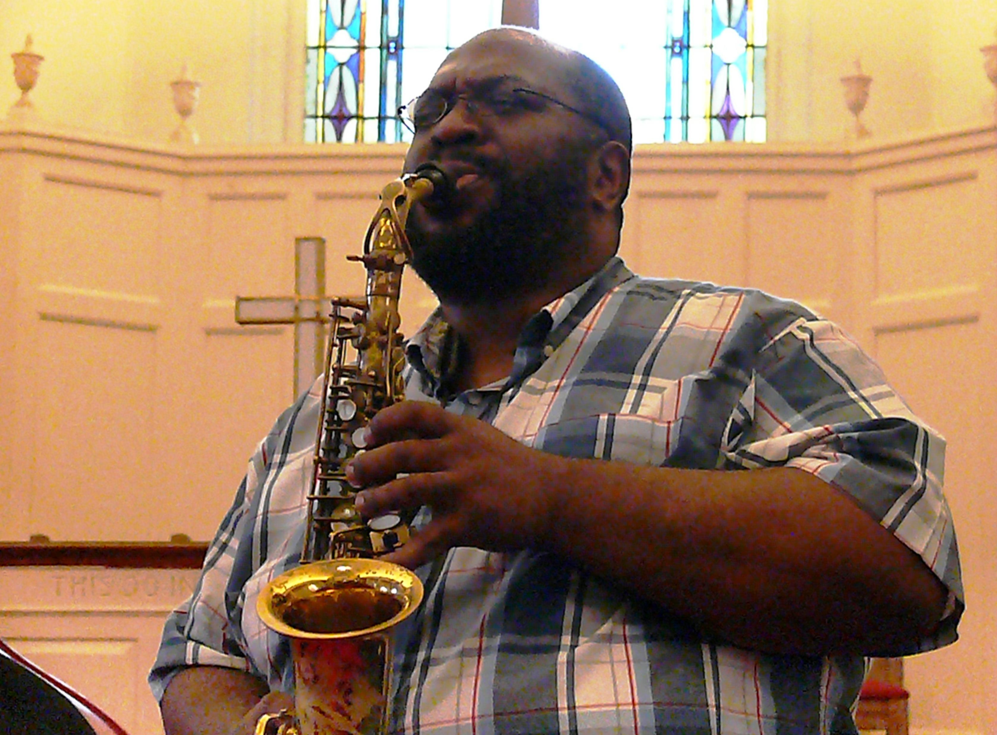 Darius Jones at Rendall Memorial Presbyterian Church, Harlem, NYC in October 2016