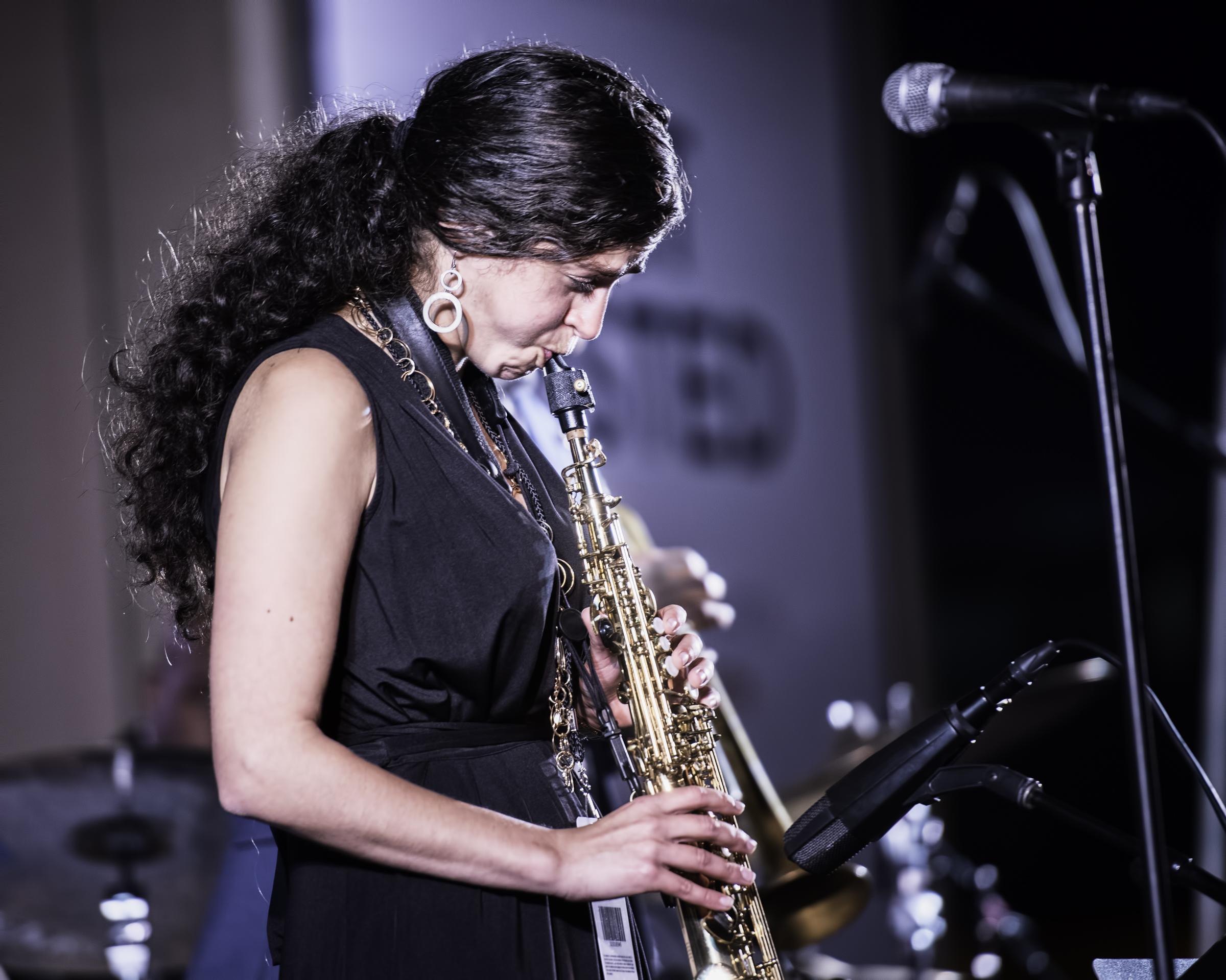 Lihi Haruvi with the Berklee Global Jazz Ambassadors at the Monterey Jazz Festival