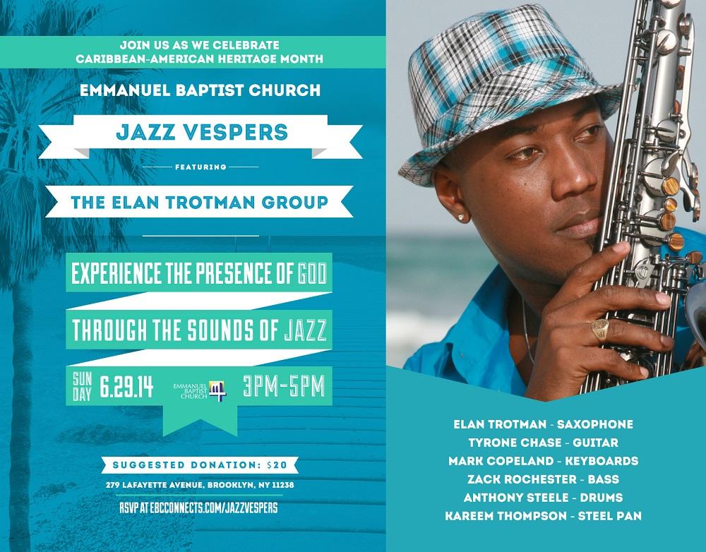 Emmanuel Baptist Church Jazz Vespers - June 29th