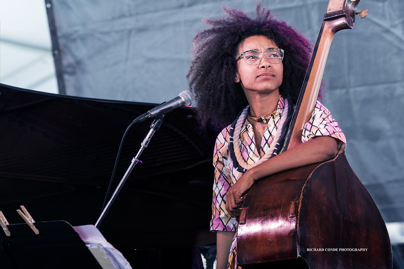 Esperanza Splading at the 2017 Newport Jazz Festival