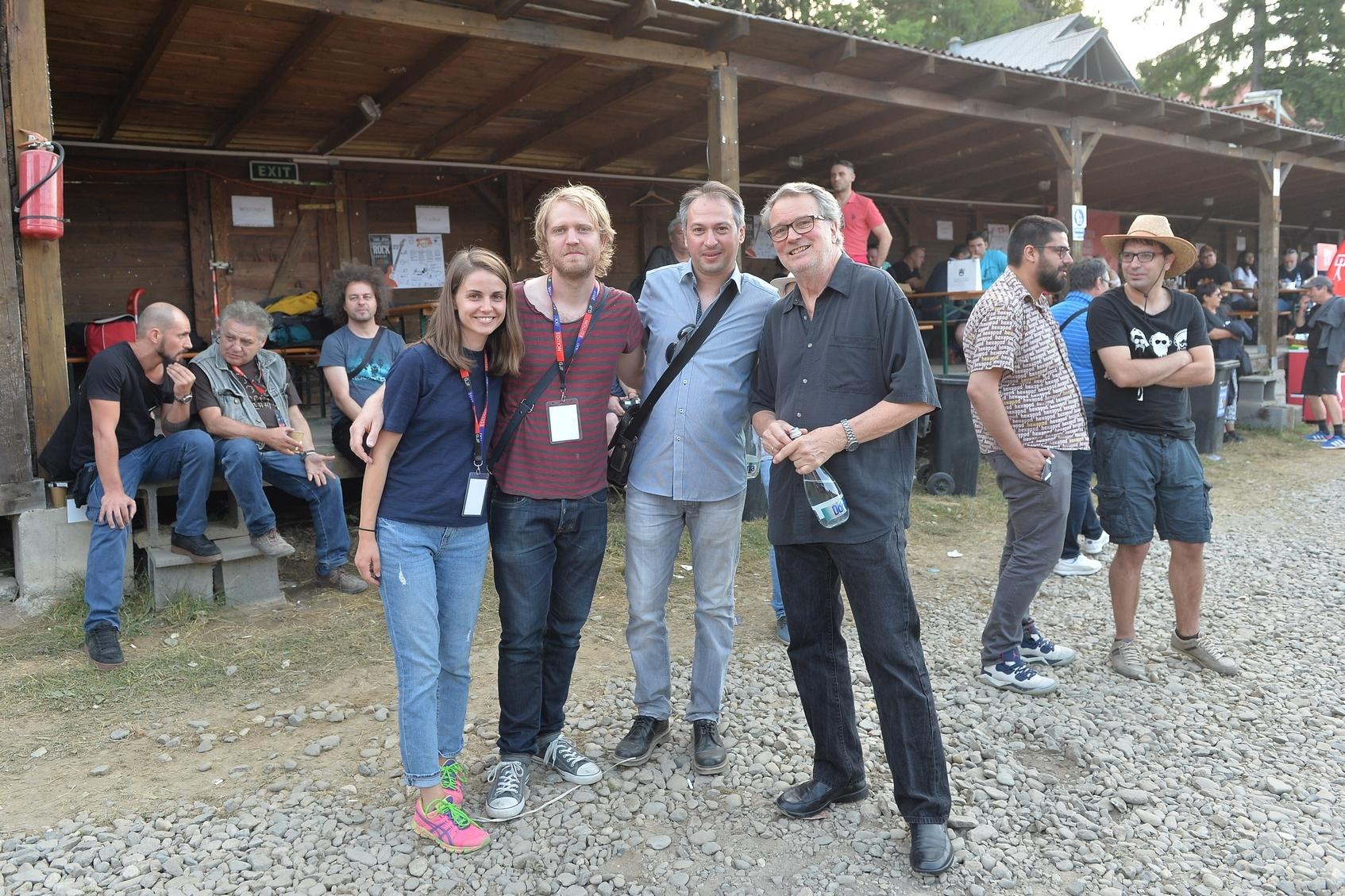 Simona Giura, Jon Falt, Nenad Georgievski and  Bobo Stenson in audience  at Garana Jazz Festival 2017