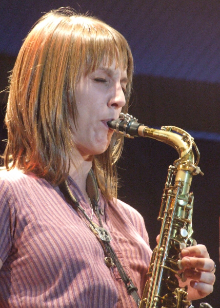 Hailey Niswanger with Either/Orchestra at 2010 Chicago Jazz Festival