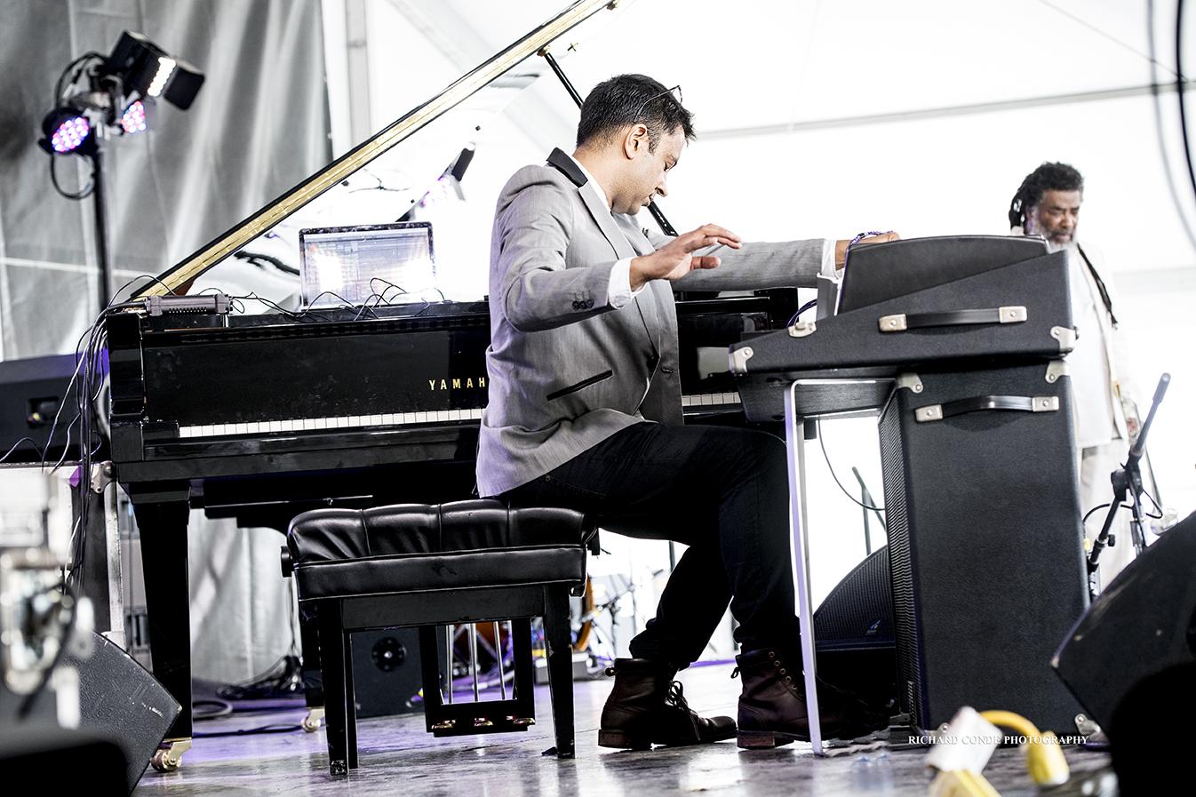 Vijay Iyer at the 2017 Newport Jazz Festival