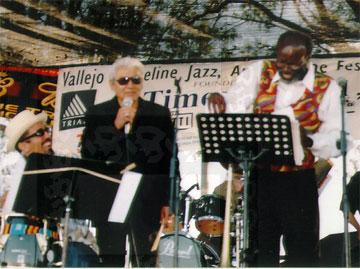 John Santos, Pete Escovedo and Wayne Wallace at the Vallejo Jazz Festival