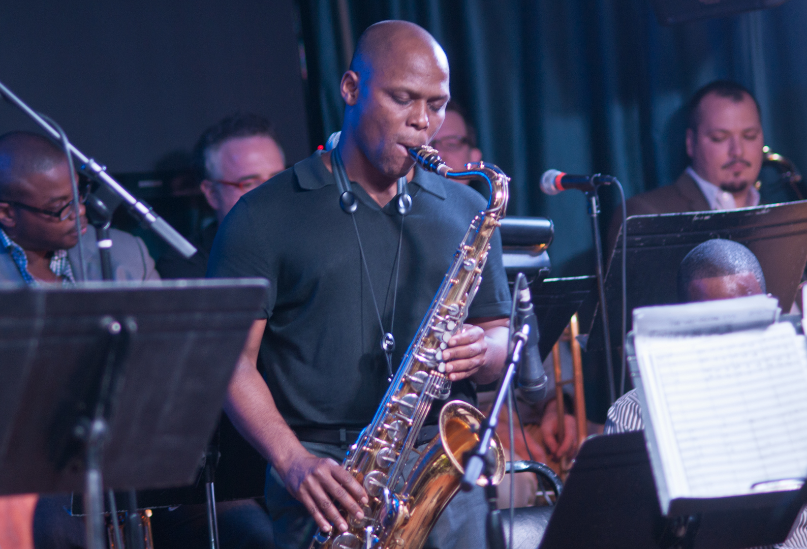 J.D. Allen with the Wayne Shorter Tribute Big Band