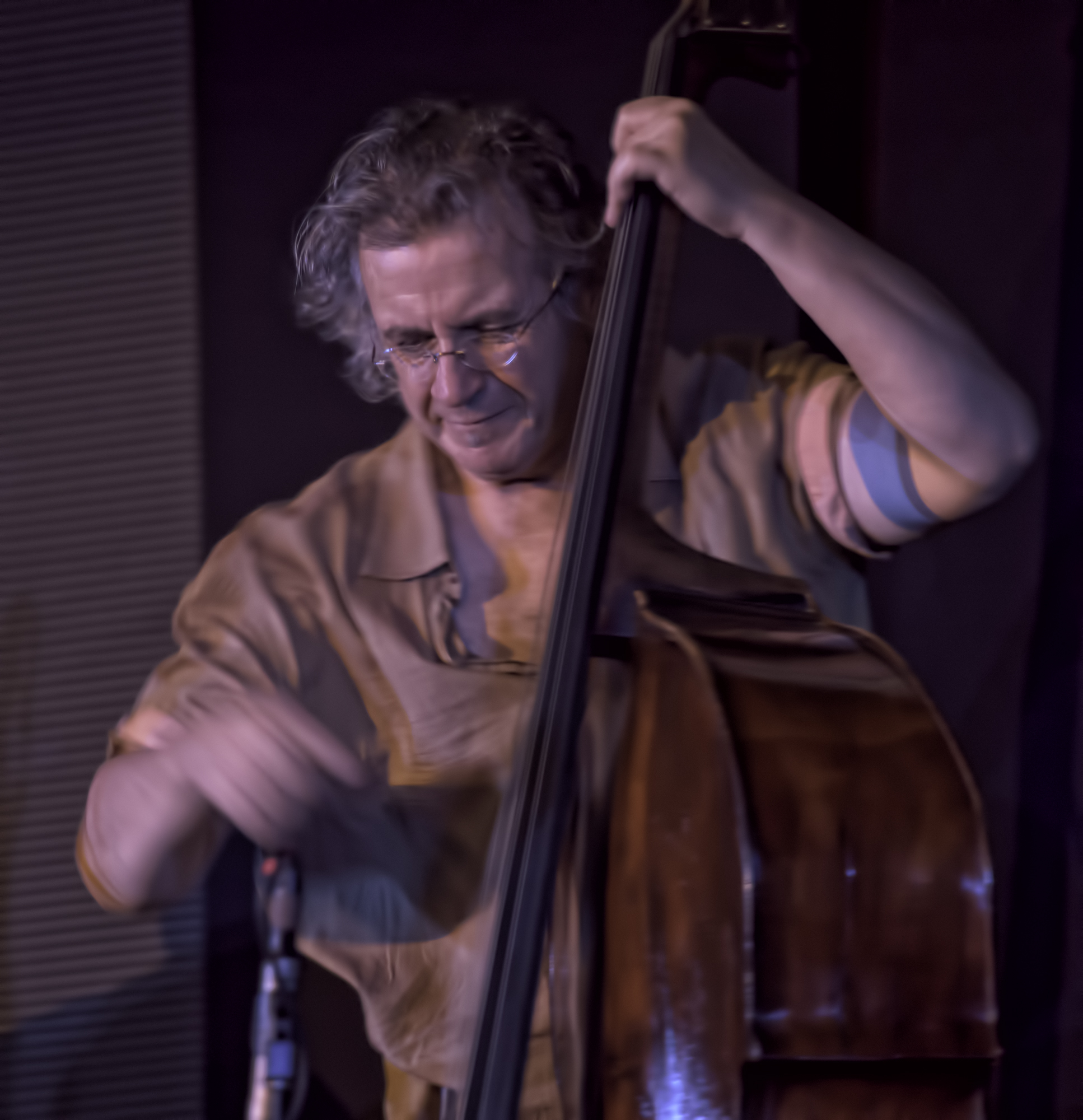 Michael Bisio with the Whit Dickey Ensemble Cosmic Breath at the 20th Anniversary Vision Festival 2015