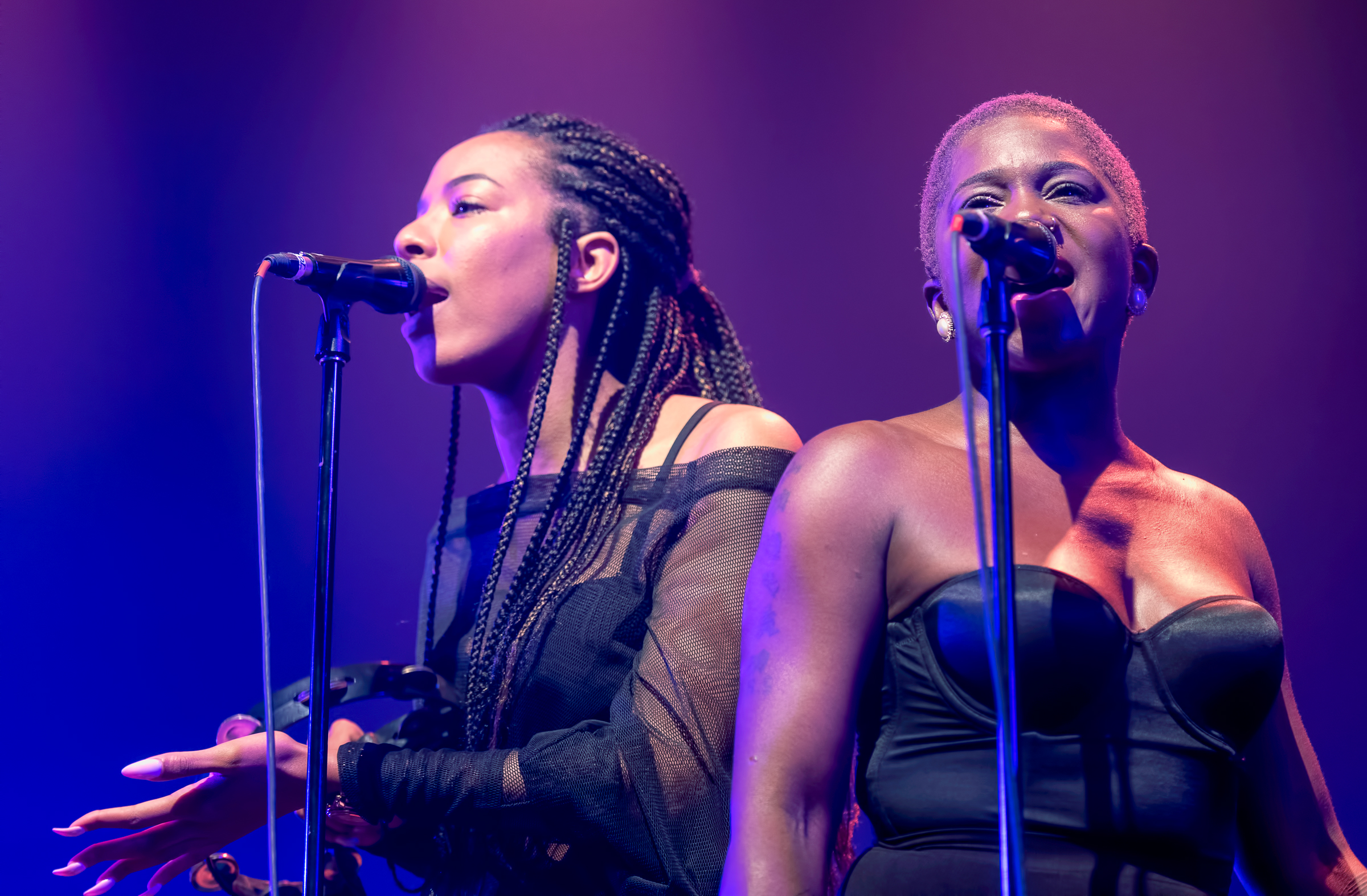 Tiffany Stevenson And Denise Stoudmire With Cory Henry And The Funk Apostles At The Montreal International Jazz Festival 2018