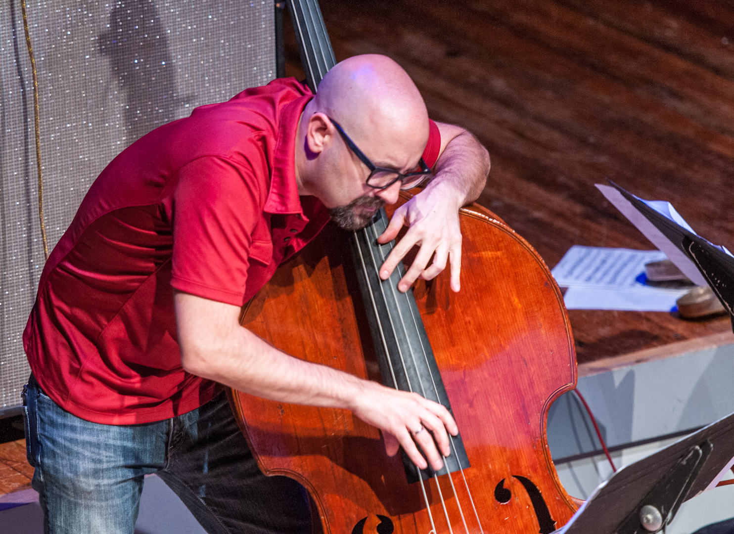 John Hebert with the Mary Halvorson Septet at Roulette
