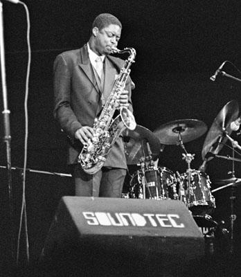 Courtney Pine 0431602 Fairfield Halls, Croydon, UK. 1987 Images of Jazz