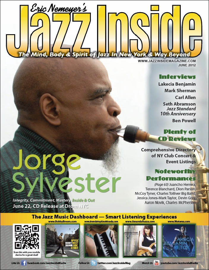 The jazz inside magazine cover and interview