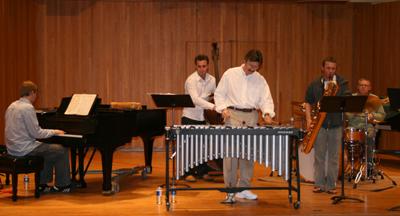 Jerry Tachoir Performing with Students
