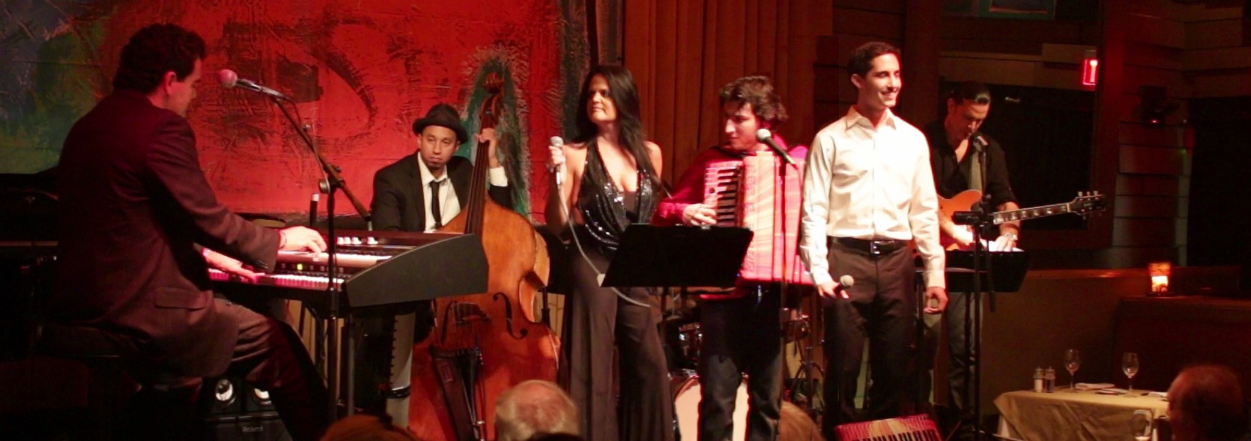 Night of Jazz at Vibrato - Stage and Band Shot