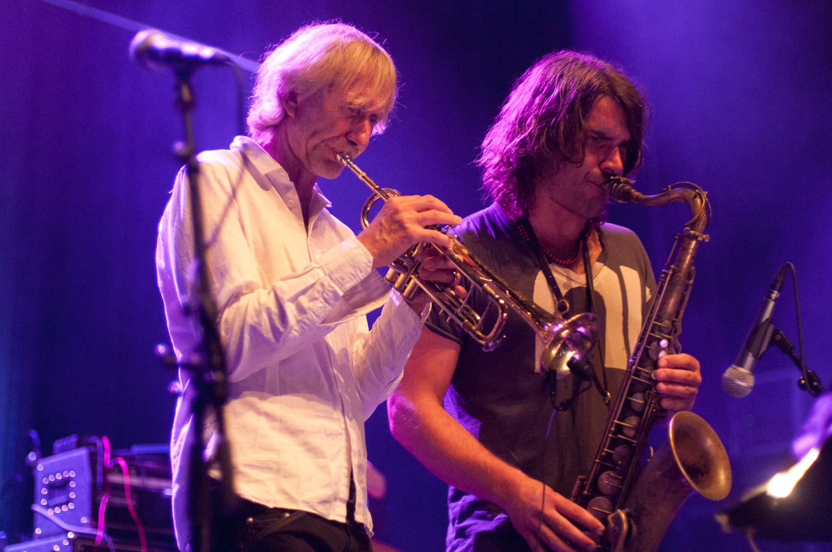 Erik Truffaz and Ilhan Ersahin with Bugge Wesseltoft at the Olso Jazz Festival