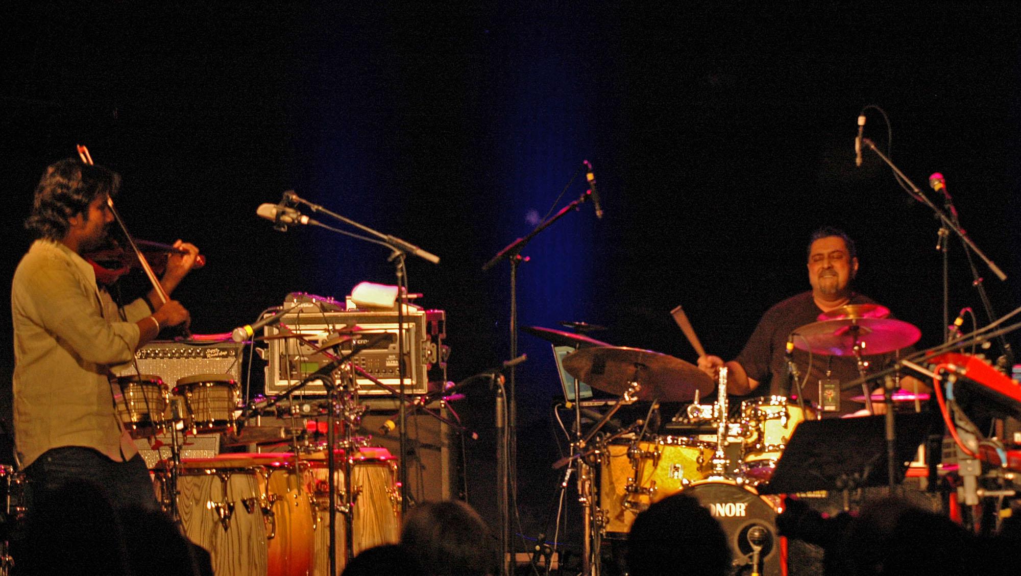 Bala Bhaskar and Ranjit Barot, Performing at the New Universe Music Festival 2010