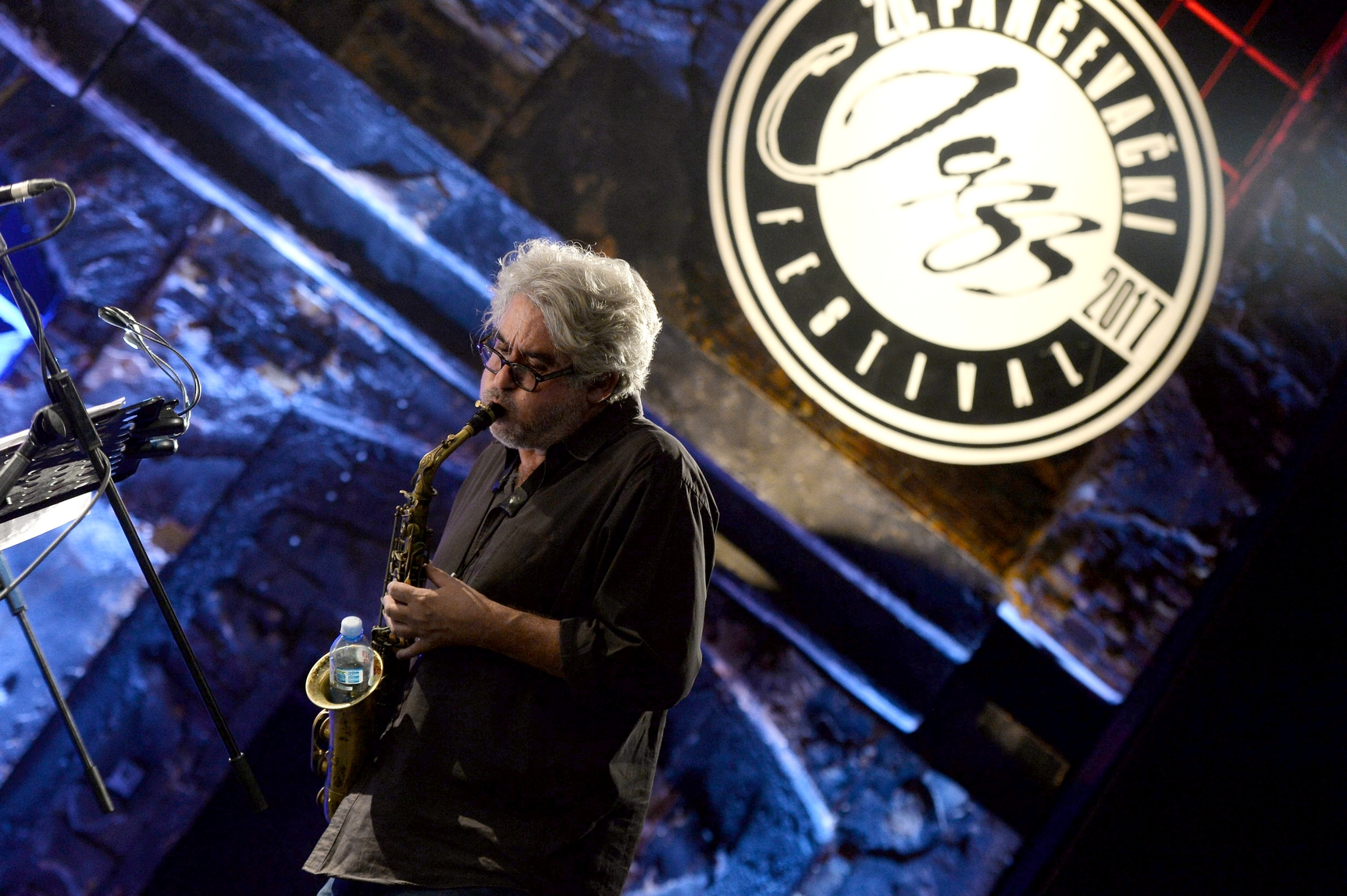 Tim Berne with his Snakeoil