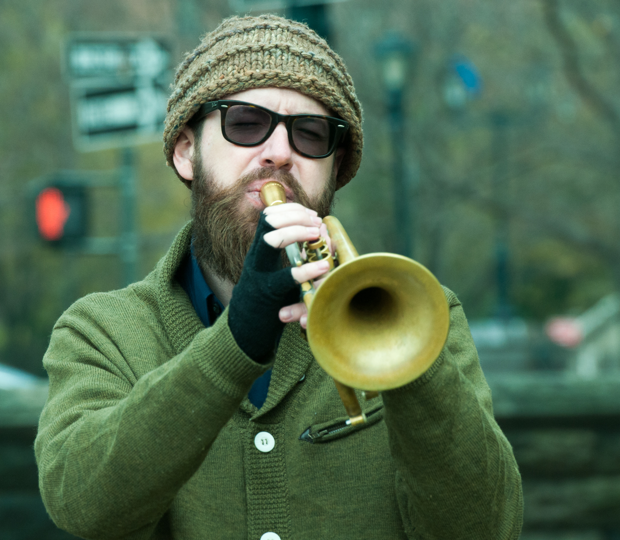 Kirk Knuffke at Jazz and Colors in Central Park