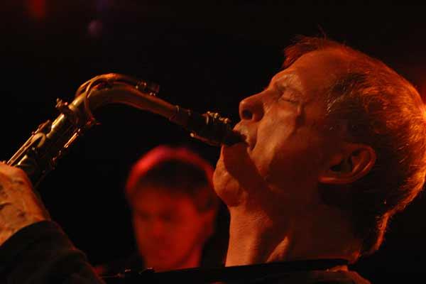 "Dick Oatts and Johannes Weidenmullerwith ""David Berkman Quartet"" at Amr, Sud Des Alpes, Geneva, Switzerland,2004"