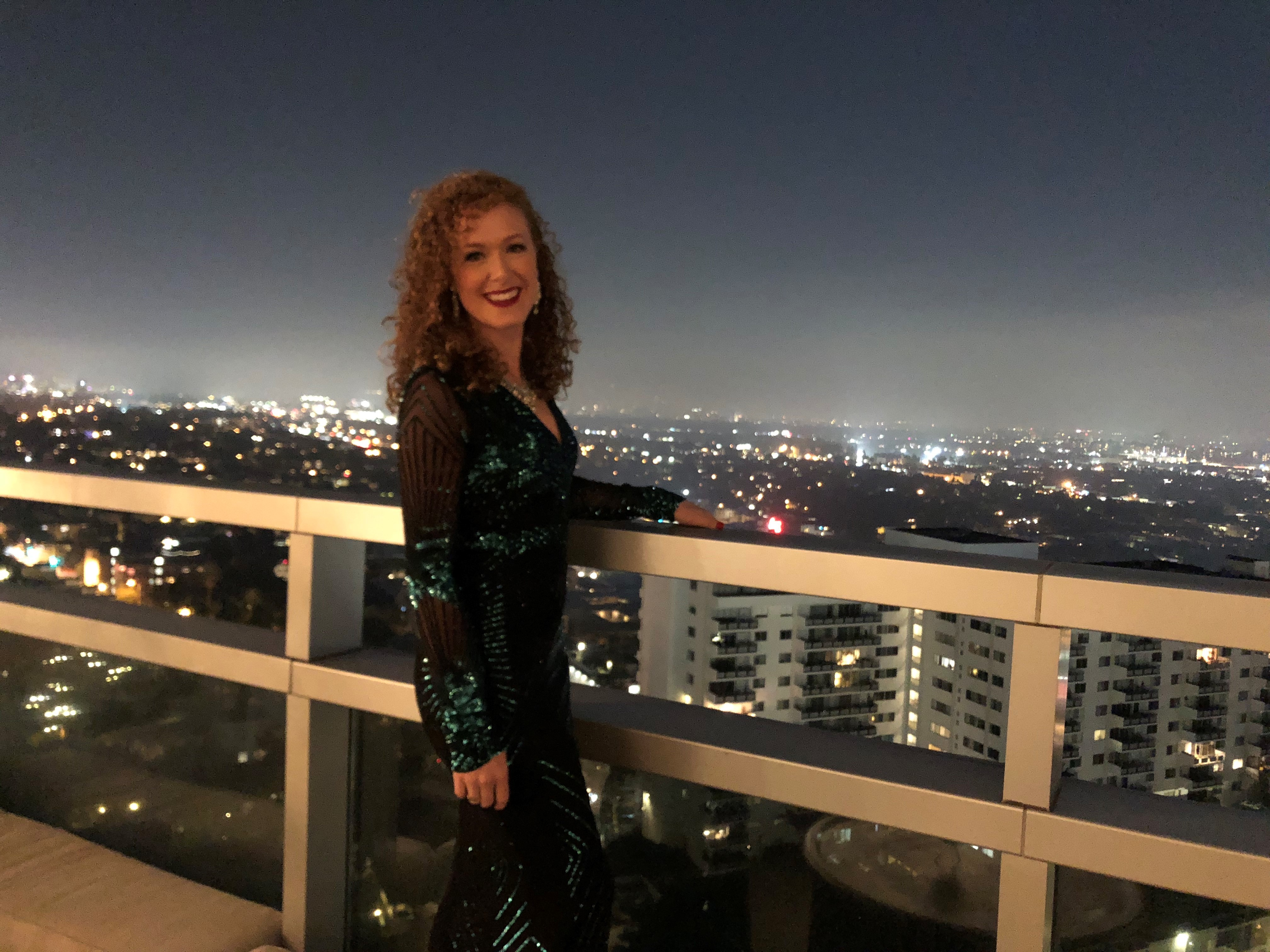 Anna Q performed at the Hills Penthouse, Beverly Hills, LA