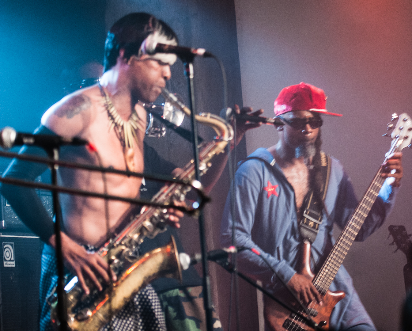 Angelo Moore and John Norwood Fisher with Fishbone at the Montreal International Jazz Festival 2012