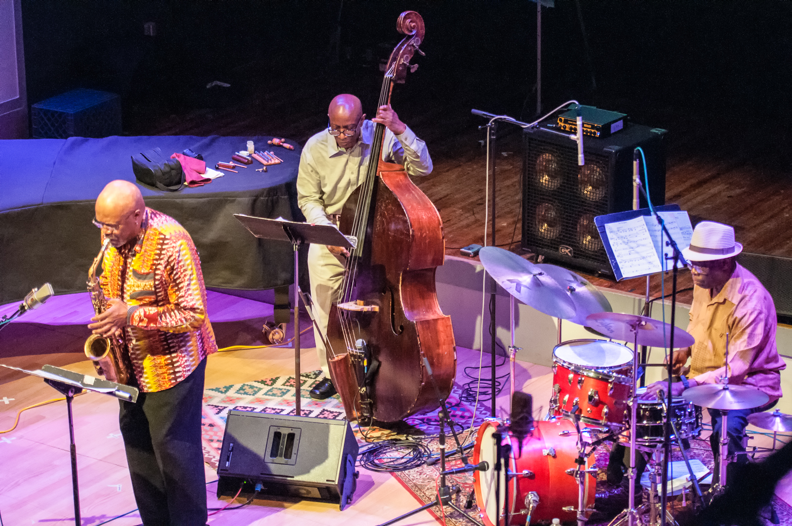 Oliver lake, reggie workman and andrew cyrille with trio 3 at the vision festival 2012