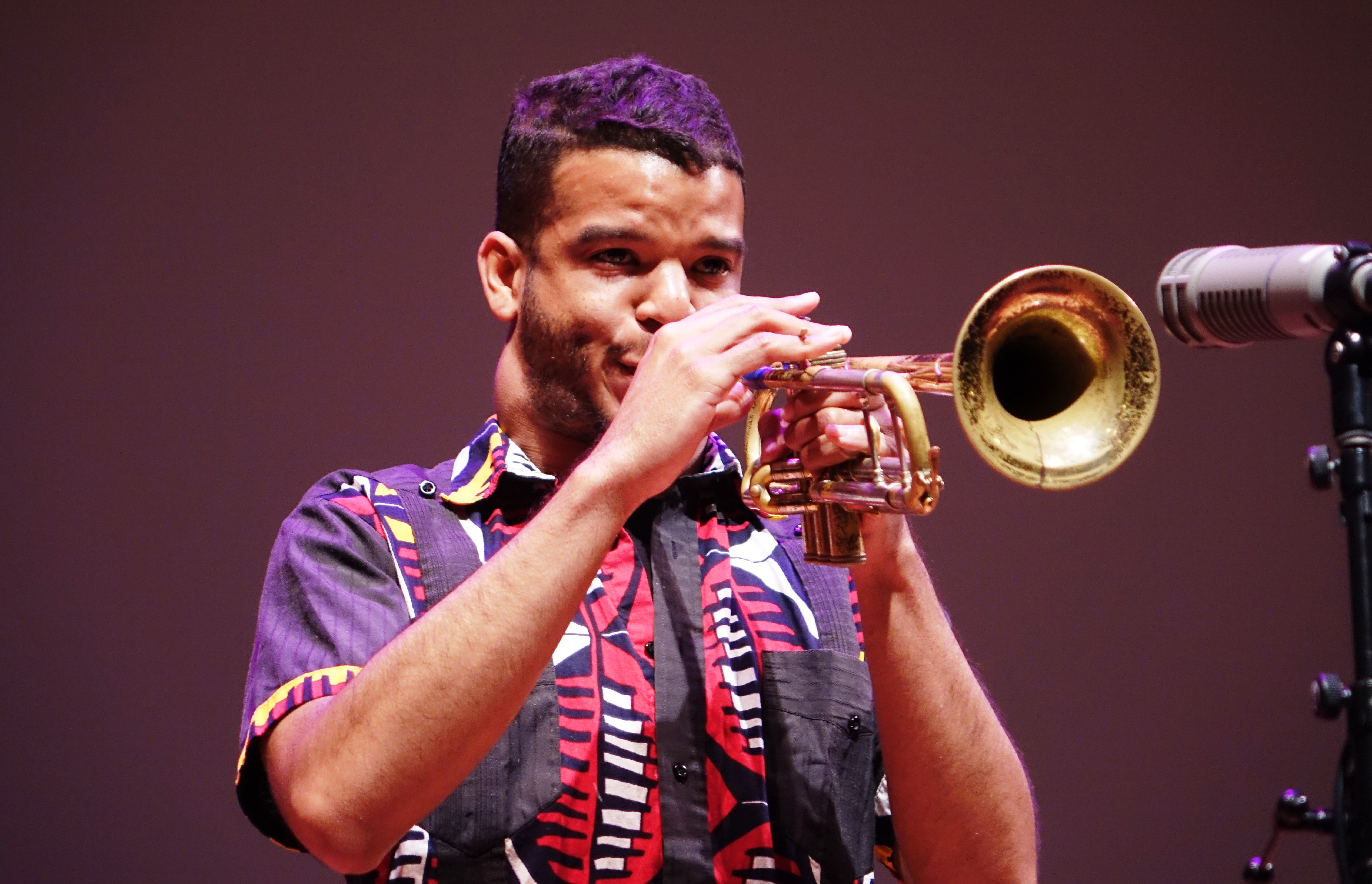 Aquiles Navarro at the Vision Festival at Roulette, Brooklyn in May 2018