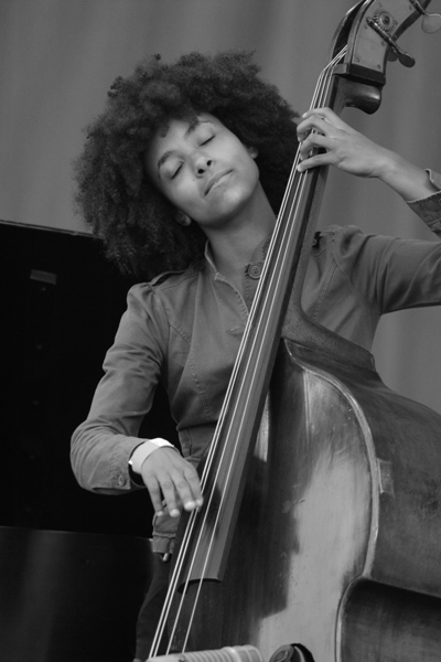 Esperanza Spaulding Perforning with the Donald Harrison Quintet at the Chicago Jazz Festival; Chicago 2006