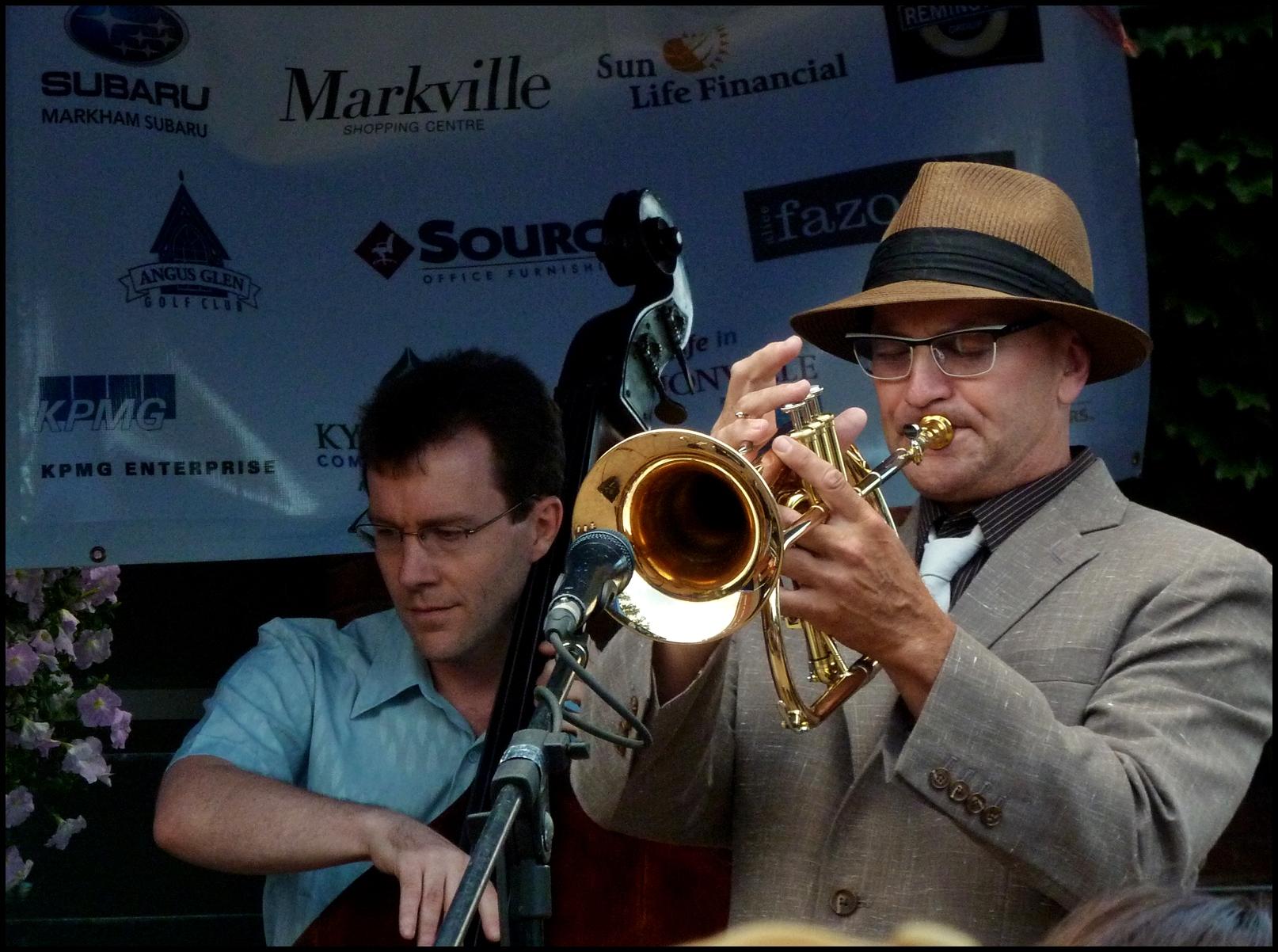 Chase Sanborn at Markham Jazz with Michael McClennen on Base