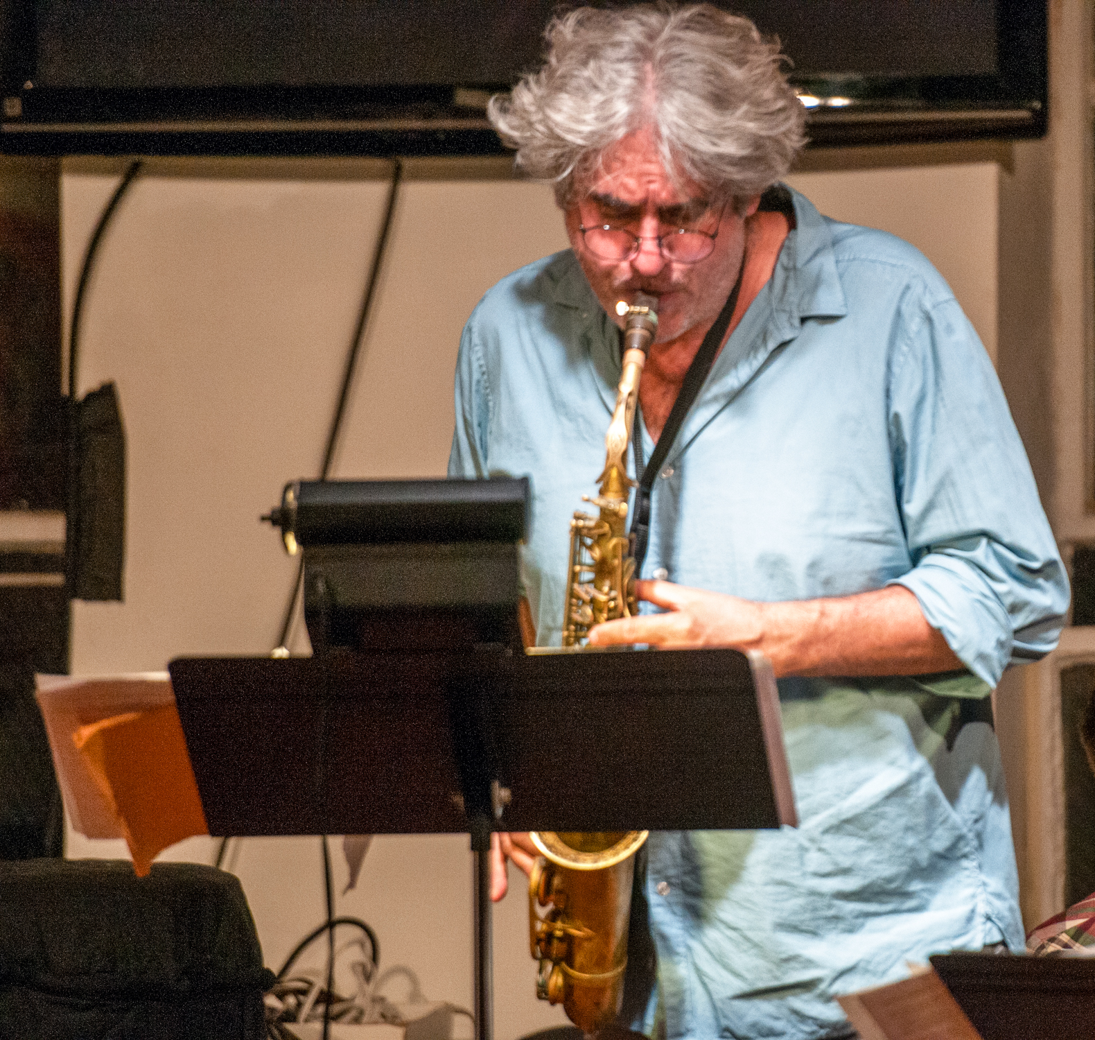 Tim berne with the ingrid laubrock quartet at the jazz gallery