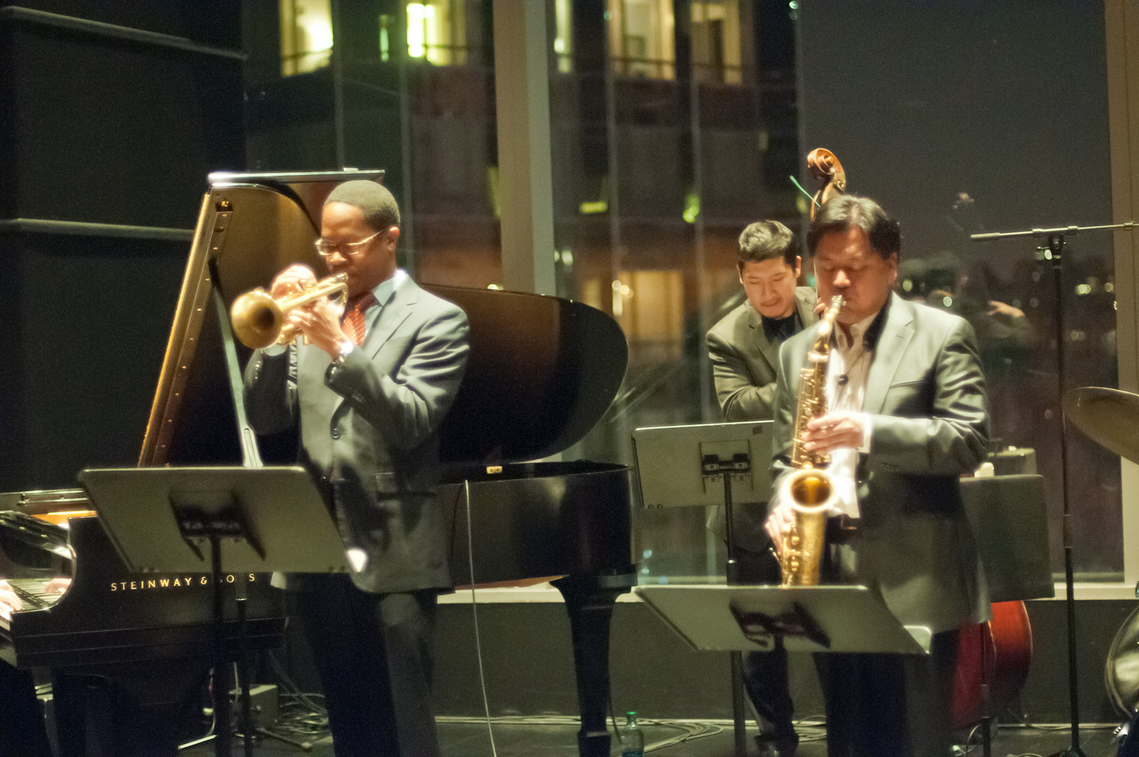 Brandon Lee with Jon Irabagon and Yasushi Nakamura at Dizzy's