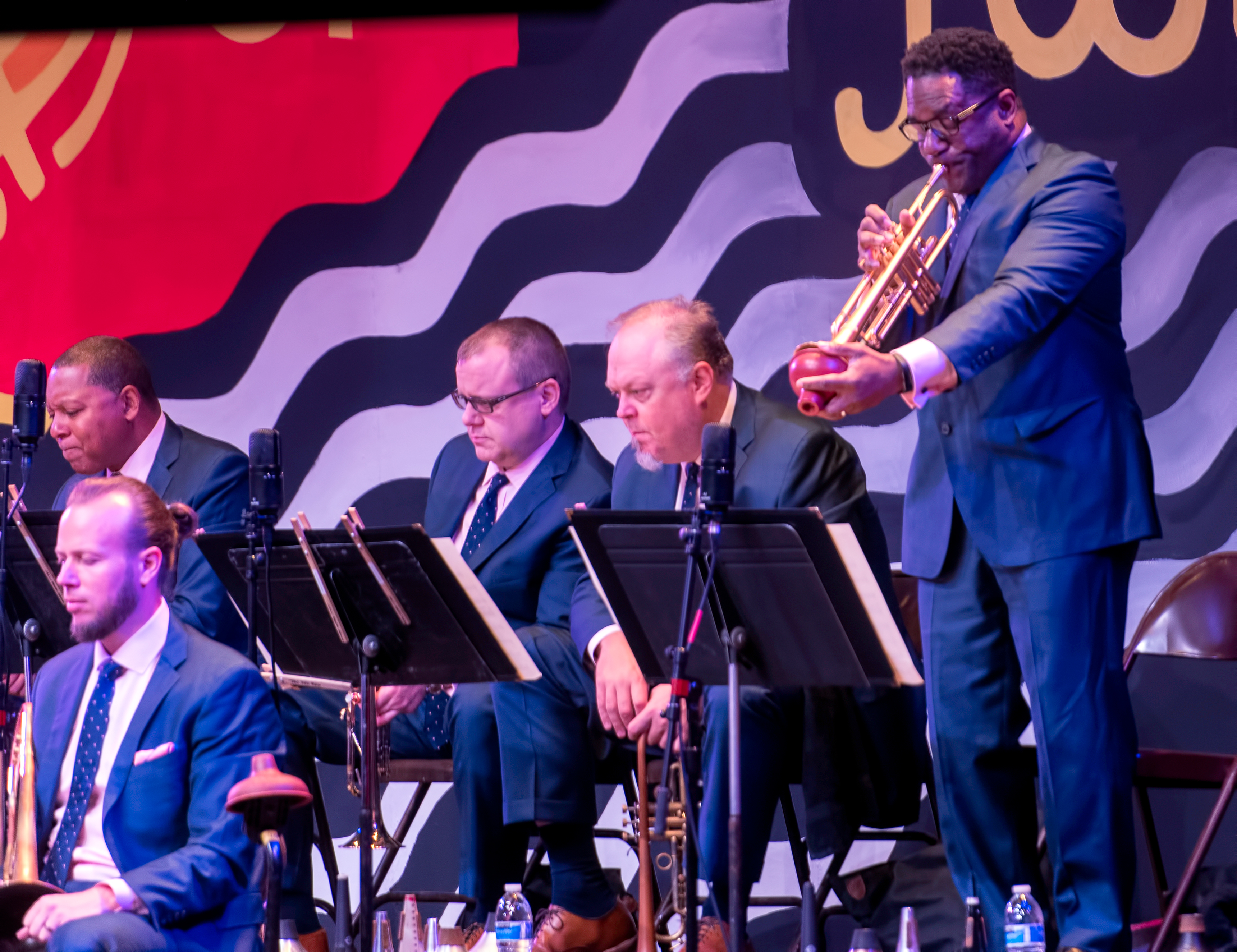 Marcus Printup with the Jazz at Lincoln Center Orchestra at the Monterey Jazz Festival 2018